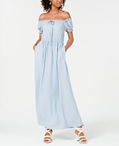 ee6be3836 Speechless Juniors' Off-The-Shoulder Maxi Dress, Created for Macy's