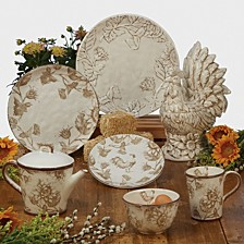 Toile Rooster Dinnerware Collection