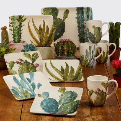 Cactus Verde Square Platter
