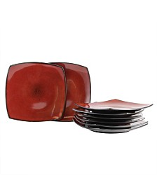 "Soho Lounge 7.5"" Soft Square Dessert Plates, Set of 8"