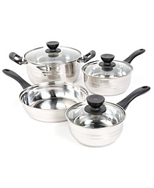 Sunbeam Alvordton 7 Piece Cookware Set, Mirror Polish
