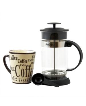 Mr. Coffee Cafeacute Oasis 2 Piece Glass Coffee Press and Mug Gift Set