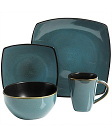 16 Piece Soft Square Dinnerware Set