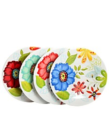 """Flora 9"""" Dessert Plate in Embossed Decorated"""
