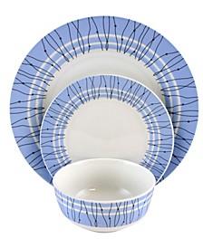 Classic Blue 12 Piece Ceramic Dinnerware Set