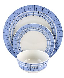Classic Blue 12 Piece Ceramic Dinnerware Set