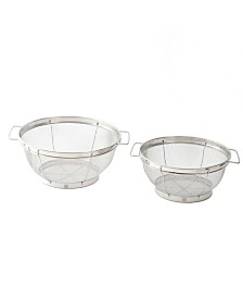 Weight Watchers Deveron 2 Piece Mesh Colander Set with Wire Handles