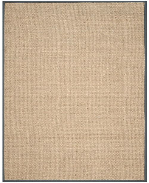 Safavieh Natural Fiber Natural and Dark Gray 8' x 10' Sisal Weave Area Rug
