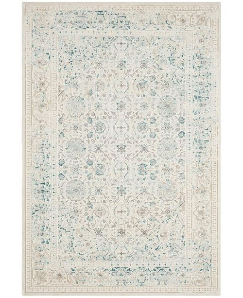 """Safavieh Passion Turquoise and Ivory 4' x 5'7"""" Area Rug"""