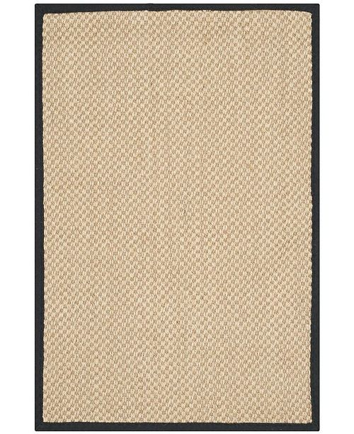 Safavieh Natural Fiber Maize and Black 2' x 3' Sisal Weave Area Rug