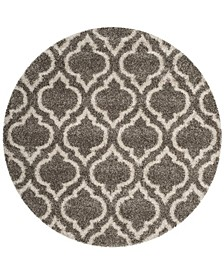 Hudson Gray and Ivory 7' x 7' Round Area Rug