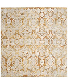"Safavieh Palermo Gold and Beige 6'7"" x 6'7"" Square Area Rug"