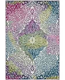 Watercolor Ivory and Fuchsia 8' x 10' Area Rug