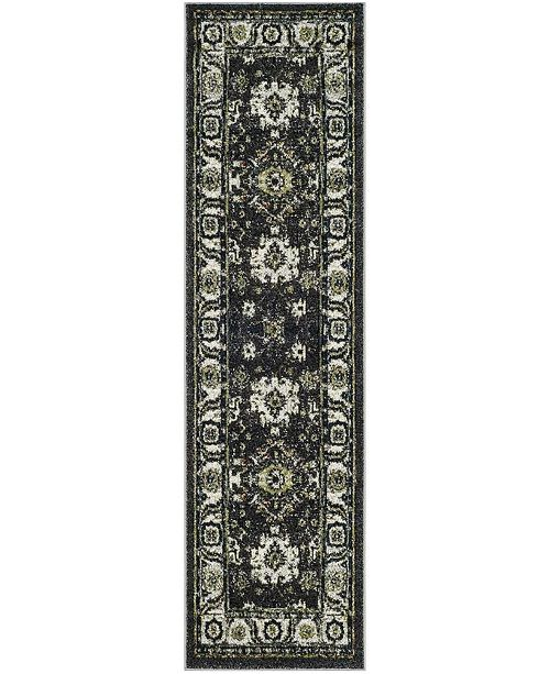 "Safavieh Vintage Hamadan Dark Gray and Ivory 6'7"" x 9' Area Rug"