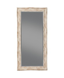 Martin Svensson  Antique White Wash Farmhouse Full Length Leaner Mirror