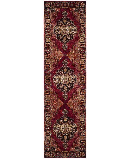 """Safavieh Vintage Hamadan Red and Multi 2'2"""" x 16' Runner Area Rug"""