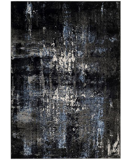 "Safavieh Porcello Gray and Black 5'1"" x 7'6"" Area Rug"