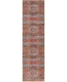 "Safavieh Vintage Persian Aqua and Orange 2'2"" x 12' Runner Area Rug"