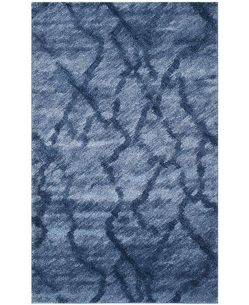 Safavieh Retro Blue and Dark Blue 5' x 8' Area Rug