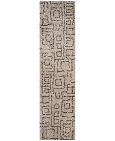 """Safavieh Belize Taupe and Grey 2'3"""" x 9' Runner Area Rug"""