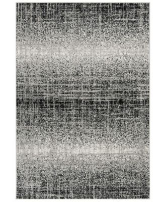 "Adirondack Silver and Black 5'1"" x 7'6"" Area Rug"