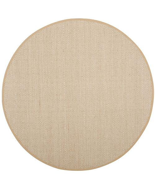 Safavieh Natural Fiber Natural and Beige 6' x 6' Sisal Weave Round Area Rug