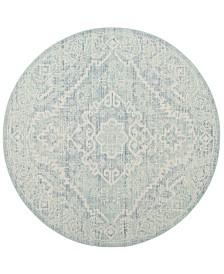 Safavieh Windsor Sea foam and Blue 6' x 6' Round Area Rug
