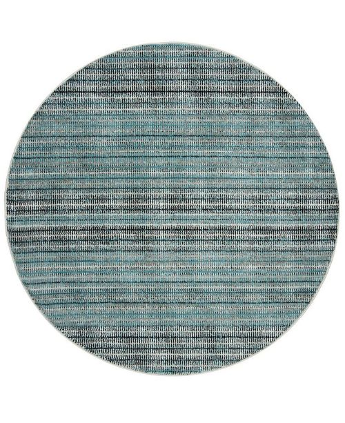 "Safavieh Skyler Blue and Gray 6'7"" x 6'7"" Round Area Rug"