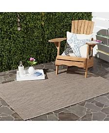 "Safavieh Courtyard Beige and Brown 4' x 5'7"" Sisal Weave Area Rug"