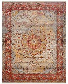 Vintage Persian Saffron and Cream 8' x 10' Area Rug