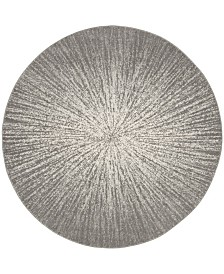 "Safavieh Evoke Dark Gray and Ivory 6'7"" x 6'7"" Round Area Rug"
