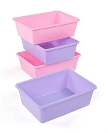 Plastic Bin Pack of 4, Large