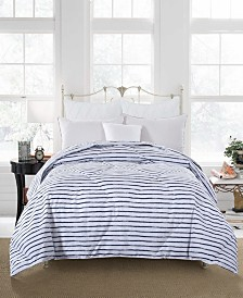 St. James Home Soft Cover Nano Feather Comforter Twin stripe