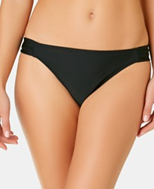 California Waves Juniors' Solid Side Shirred Hipster Bottoms, Created for Macy's