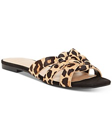 INC Gargi Knotted-Strap Slide Sandals, Created For Macy's
