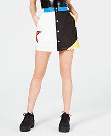 Starter Colorblocked Snap-Front Skirt