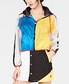 Colorblocked Semi-Sheer Jacket