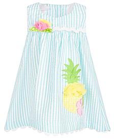 Baby Girls Striped Seersucker Dress