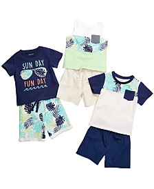 First Impressions Baby Boys Printed T-Shirts, Tank Tops & Shorts, Created for Macy's