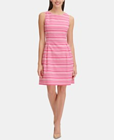 Tommy Hilfiger Sleeveless Infinity-Stripe Dress
