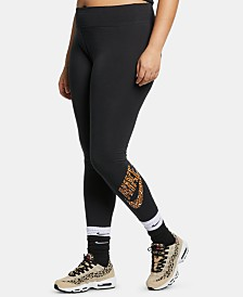 Nike Plus Size Sportswear Printed-Logo Leggings