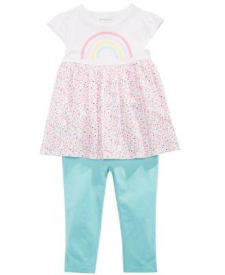 Baby Girls Ruffled Leggings, Created for Macy's