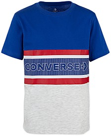 Converse Big Boys Retro Striped Cotton T-Shirt