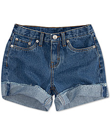 Levi's® Big Girls' Girlfriend Shorty Shorts