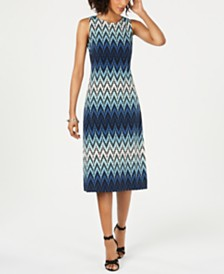 Jessica Howard Sleeveless Printed Midi Dress