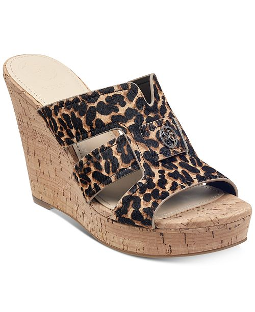 b24395c93374 GUESS Women s Eadra Wedge Slide Sandals   Reviews - Sandals   Flip ...