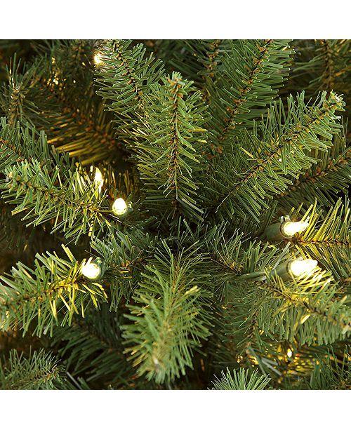 Artificial Christmas Tree 10 Ft: Puleo International 10 Ft Pre-lit Slim Franklin Fir