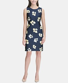 Tommy Hilfiger Scuba Printed Sheath Dress