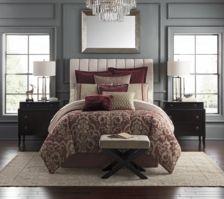 Amarah Cabernet Reversible Queen 4 Piece Comforter Set