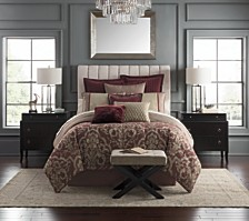 Waterford Amarah Cabernet Reversible Queen 4 Piece Comforter Set